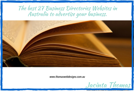 The best 27 Business Directory Websites in Australia to advertise your business.