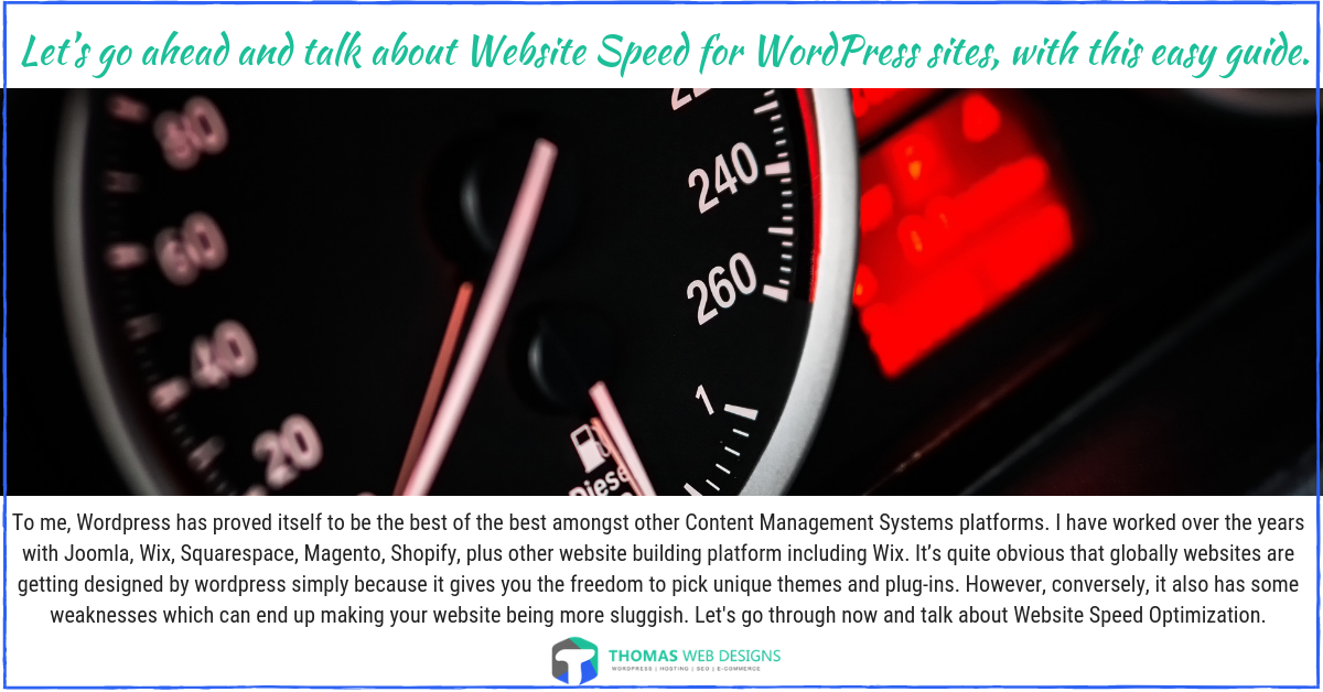 Let's go ahead and talk about Website Speed for WordPress sites, with this easy guide.