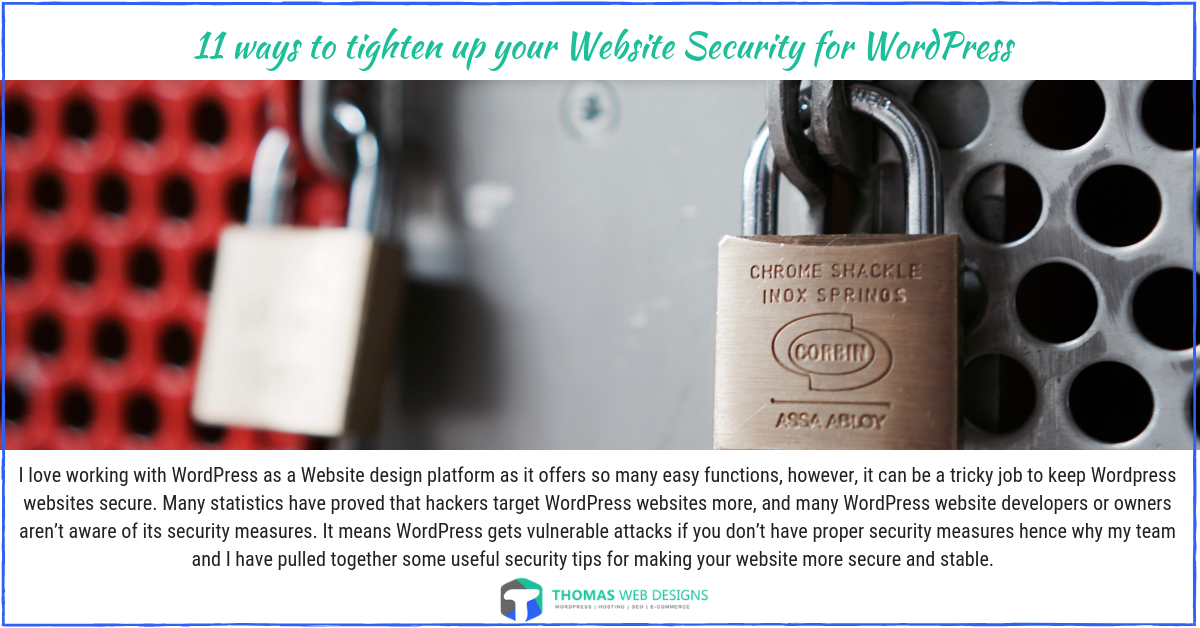 11 ways to tighten up your Website Security for WordPress