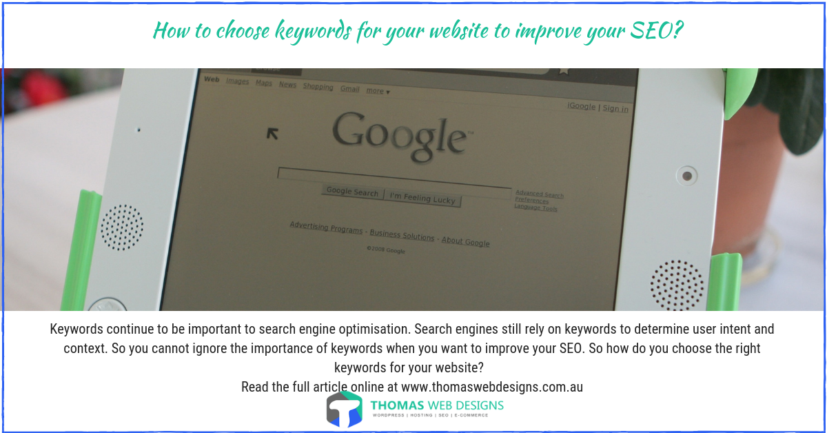 How to choose keywords for my website to improve your SEO?