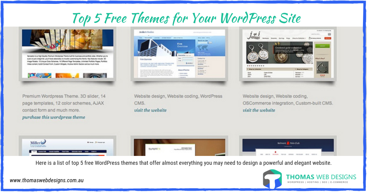 Top 5 Free Themes for Your WordPress Site